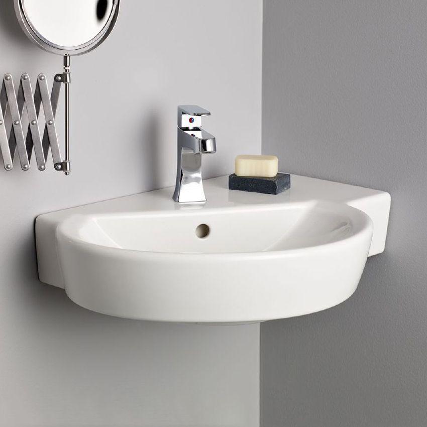 Cheviot 1326 Barcelona Barcelona Wall Mount Sink Wall Mounted Sink Wall Mounted Bathroom Sinks Corner Sink Bathroom