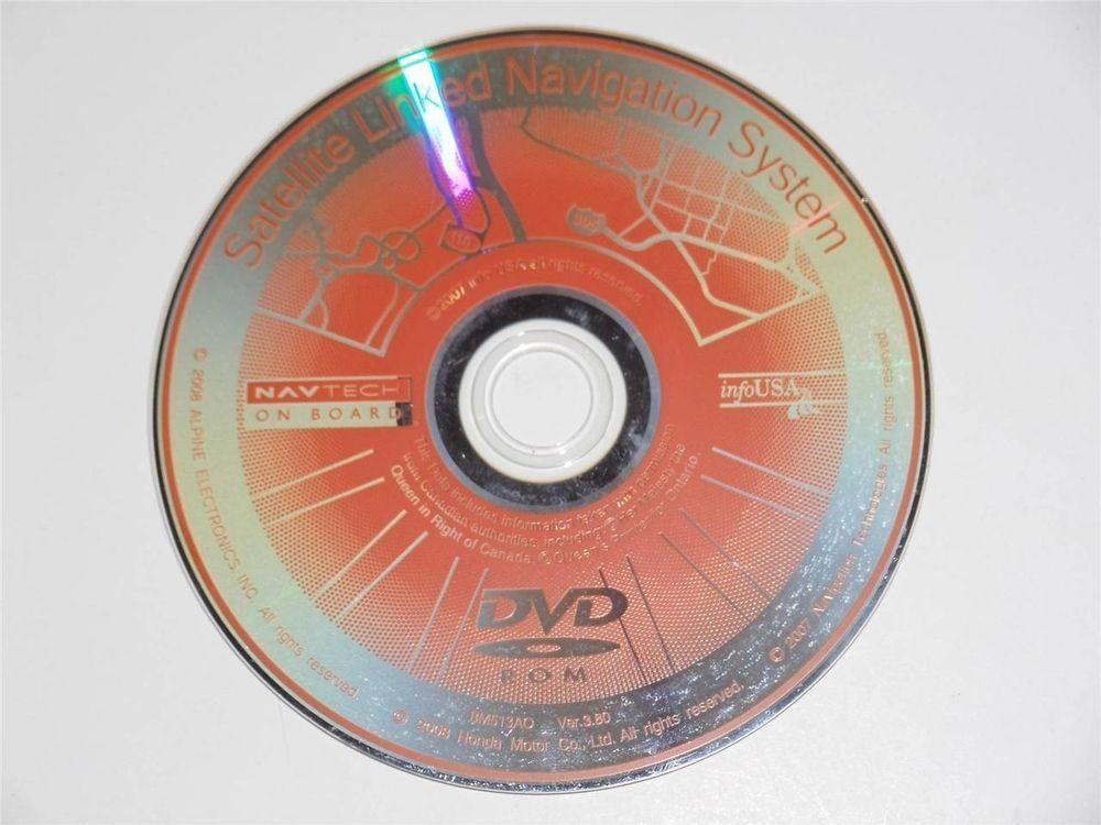 OEM Honda Satellite Linked Navigation System Map North America Disc Version  3.80
