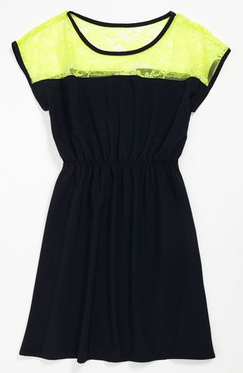 Sally Miller Lace Block Dress (Big Girls) | Nordstrom #sallymiller