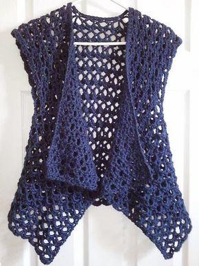 Tığ işi Tel Parça Dikişsiz Yelek  Modeli #crochetsweaterpatternwomen