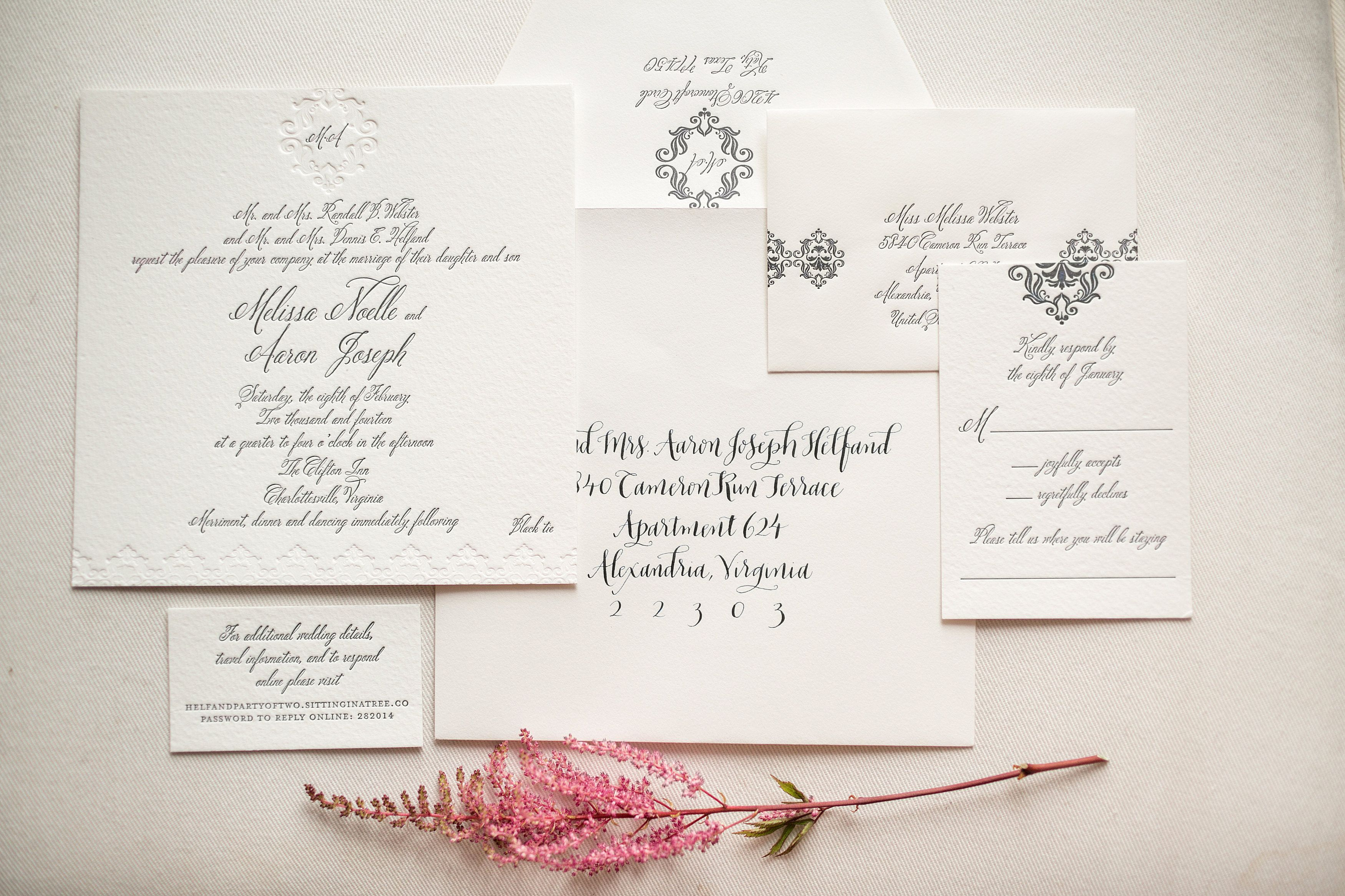 Melissa & Aaron on Borrowed & Blue.  Photo Credit: Katelyn James Photography Calligraphy:  Meant To Be Calligraphy