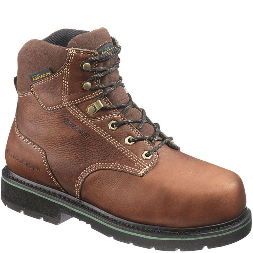 23231 Footrests by Hytest Men's Texon Safety Boots Brown