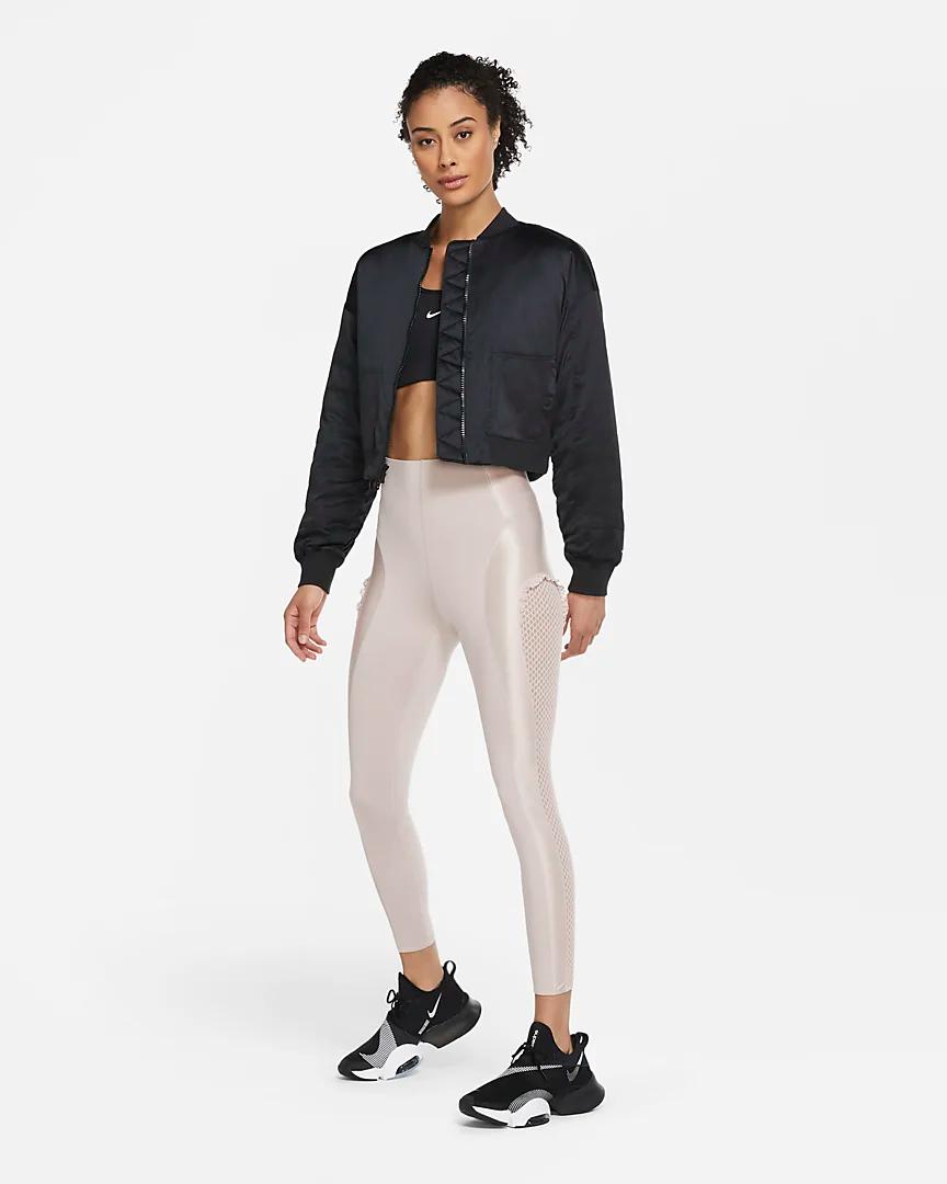Nike Women S Training Bomber Jacket Nike Com In 2021 Nike Bomber Jacket Womens Training Nike Women [ 1080 x 864 Pixel ]