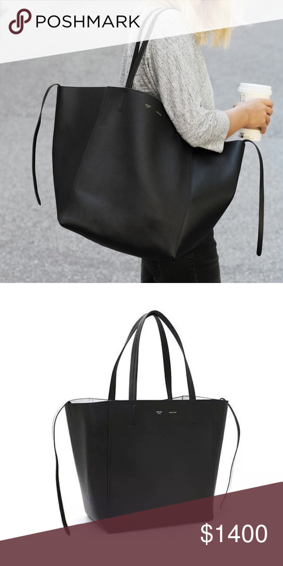 e469717b2b3d Auth Celine Cabas Phantom Small Tote Black/Silver New with tags, cards, and  distbag included Authentic Celine Phantom Small Cabas Shopper Tote in Black  with ...