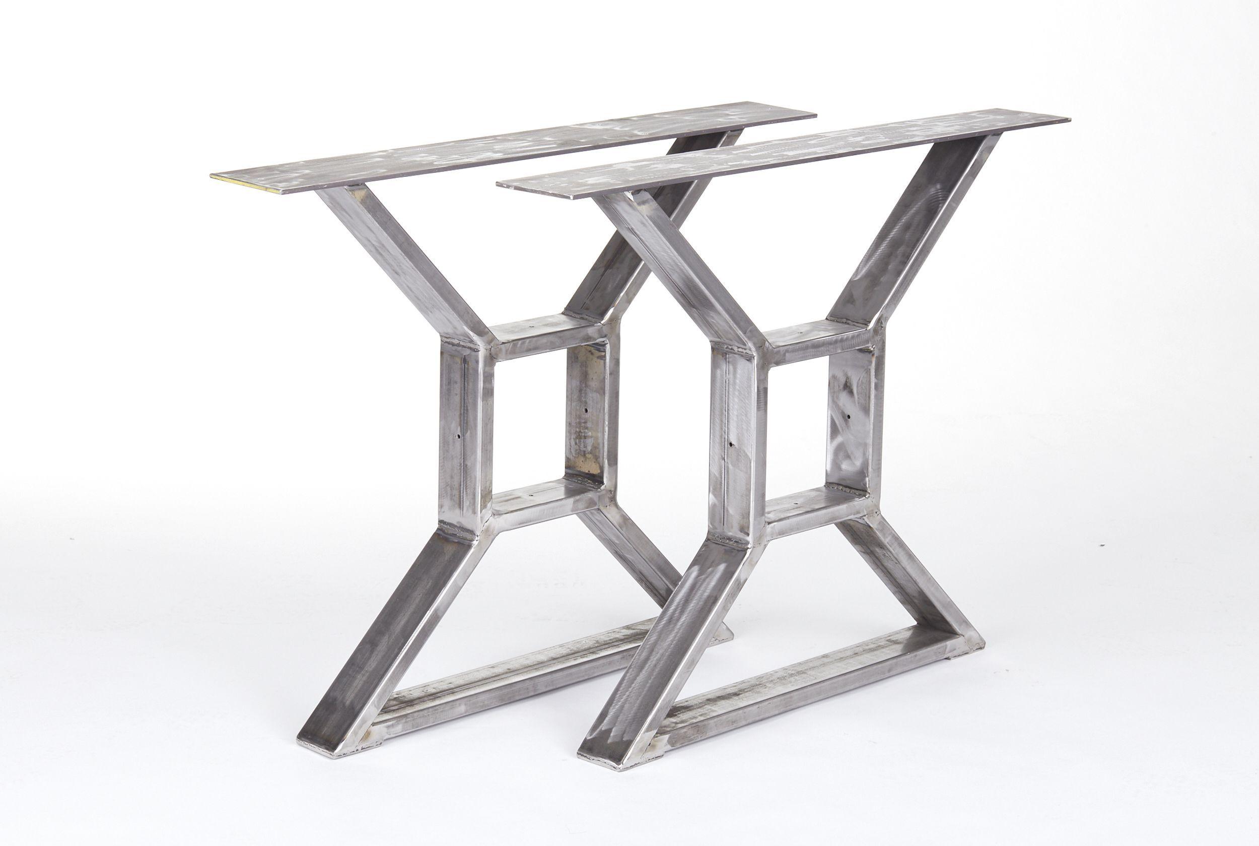 Custom Made Industrial Steel X Table Legs | Industrial ...