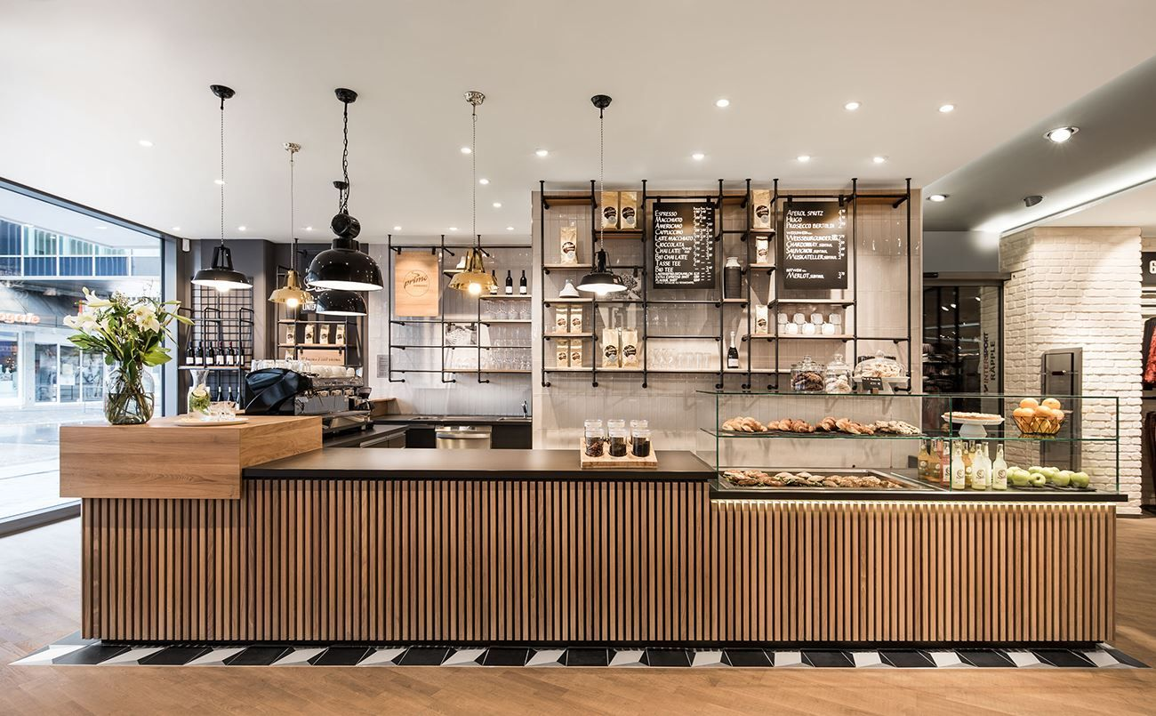 Primo Cafe Bar in Tübingen, Germany by DIA   Dittel Architekten is part of Cafe interior - The Primo Cafe Bar stands for highquality coffee, an Italian lifestyle and a sustainable mindset  In the spirit of this brand philosophy, an authentic interior design concept with natural materials