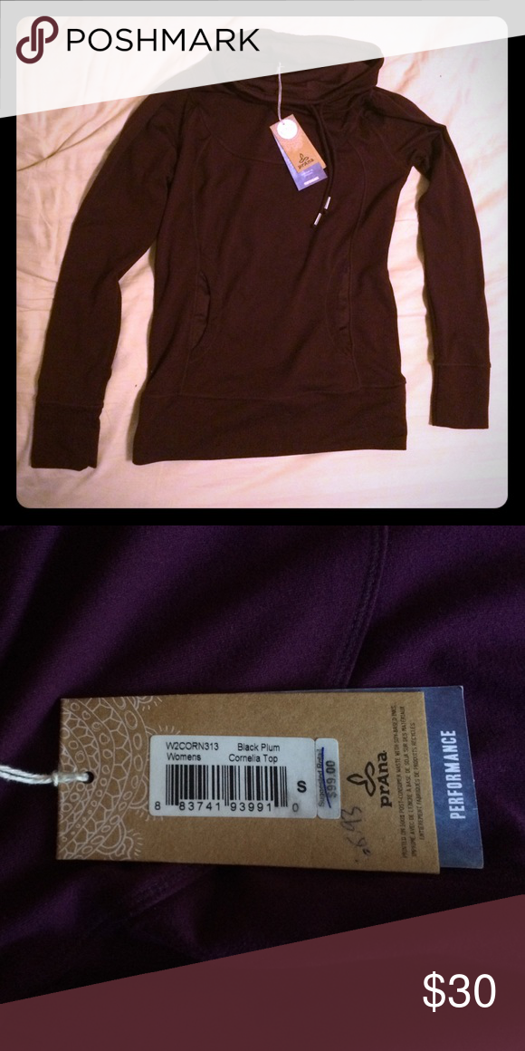 Prana Black Plum Cornelia Top Brand new, with tags Prana Tops Sweatshirts & Hoodies