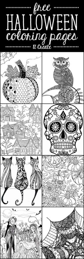Free Halloween Adult Coloring Pages at U Create great for