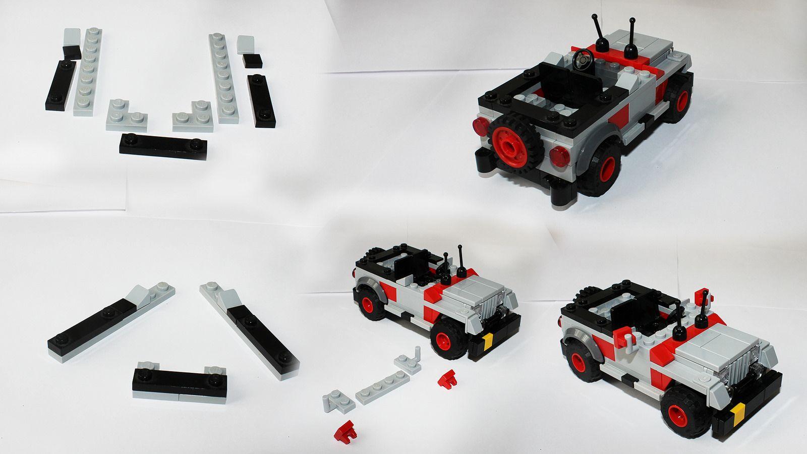 Jurassic Park Jeep Instructions Lego Vehculo Pinterest Lego