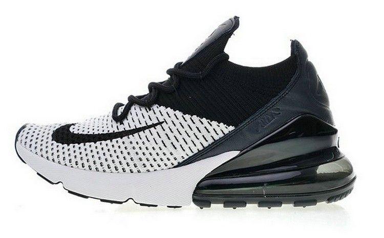 85222003f27 Nike Air Max 270 Flyknit Blanc Noir AO1023 100