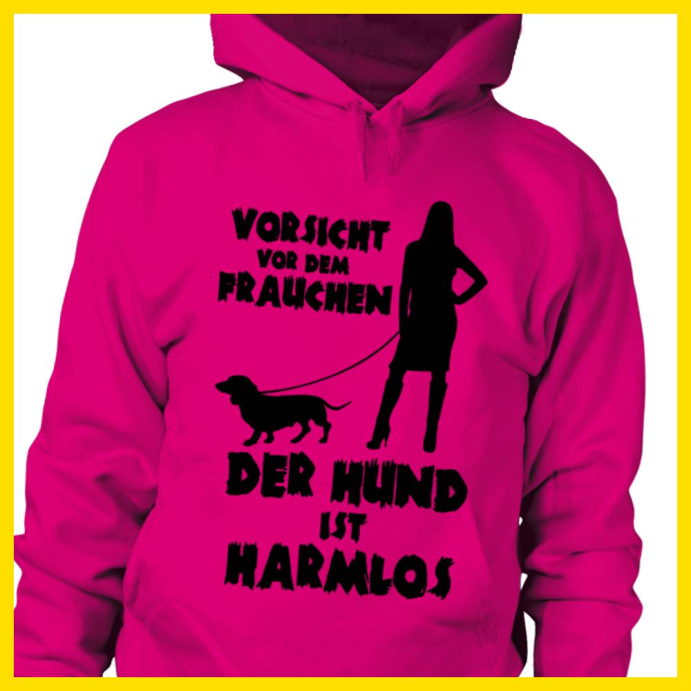 Mein Frauchen Dackel Damen T-Shirt Spruch Geschenk Idee Hunde Besitzer Dachshund