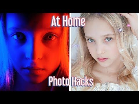 At Home Photo Hacks! Boredom Busters with Lilly K! #stayhome #withme #athome - YouTube
