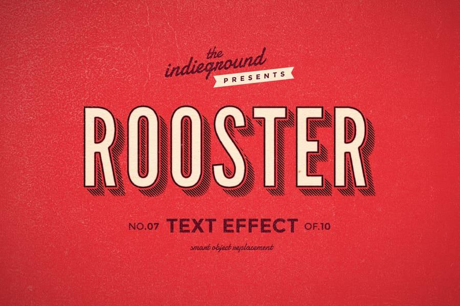 Retro Vintage Text Effect N 07 Indieground Design Retro Text Text Effects Vintage Text