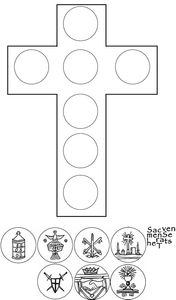 seven sacraments cross with images scribd catholic stuff pinterest religion religious. Black Bedroom Furniture Sets. Home Design Ideas