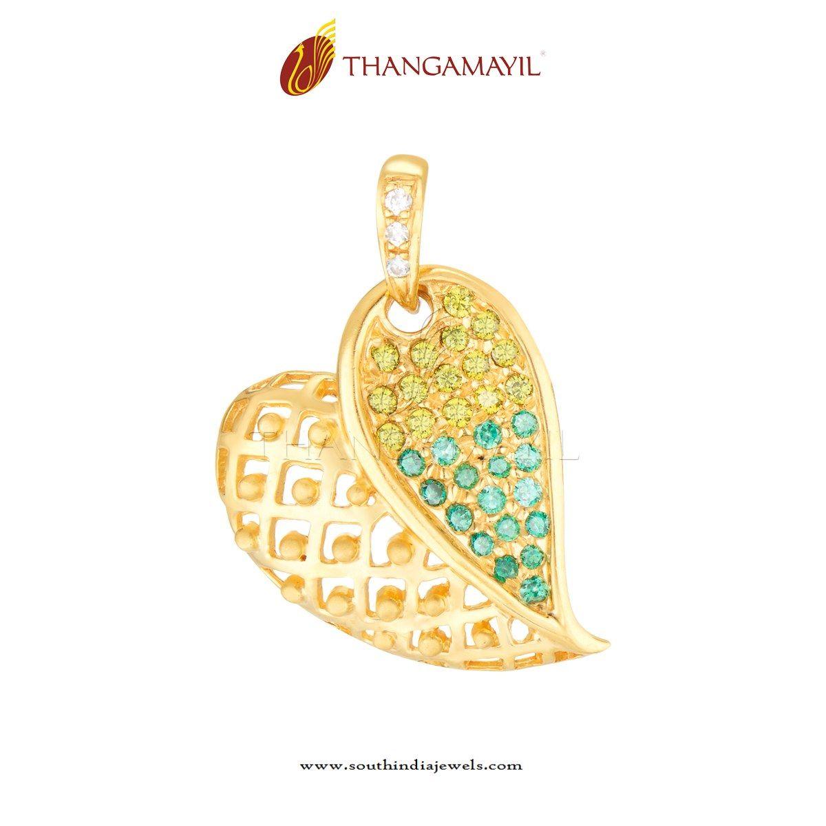 Gold cz stone leaf pendant chain pendants stone pendants and gold cz stone leaf pendant mozeypictures Choice Image