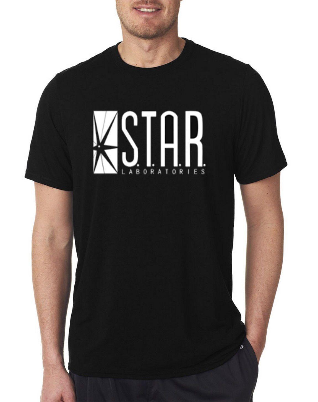 54c058ed48 The Flash DC Barry Allen Laboratories Star Labs Black T Shirt ...