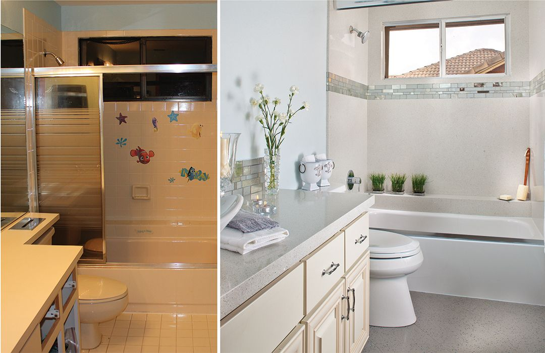 Bathroom Makeover Granite before and after granite transformations www