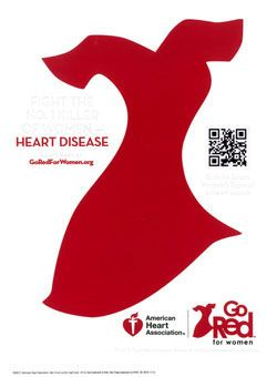Go Red For Women Window Cling
