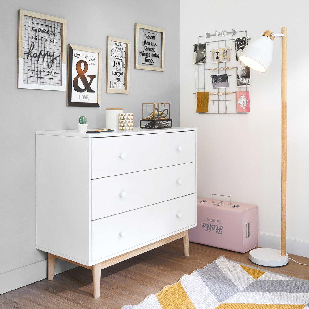 White Girl S Bedroom Storage Furniture Maisons Du Monde Kidos  # Muebles Maison Du Monde
