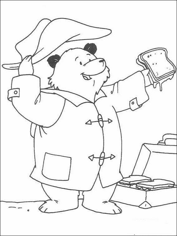 Paddington Bär 8 Ausmalbilder für Kinder. Malvorlagen zum