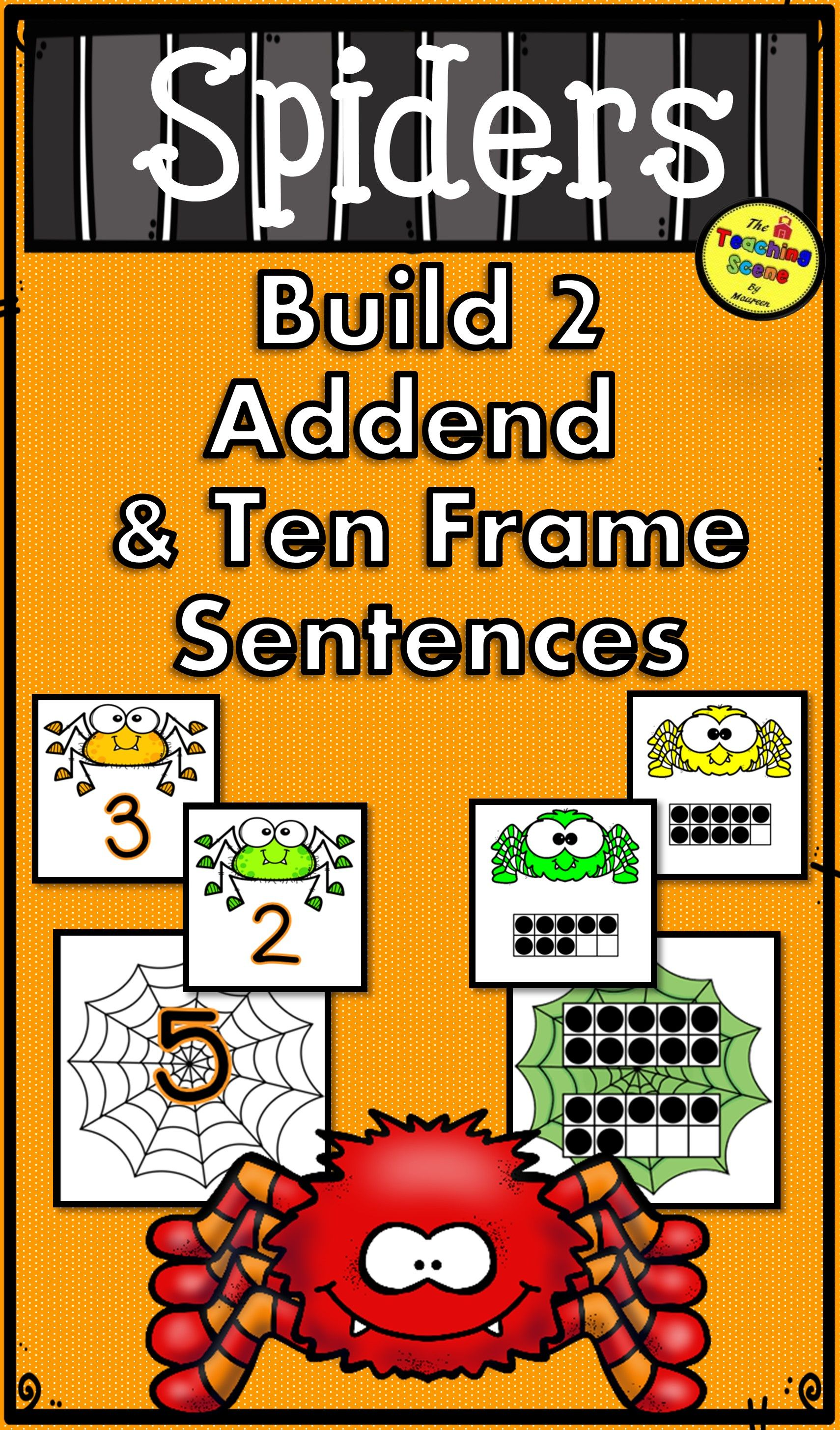 Spiders 2 Addend Addition Amp Subtraction With Ten Frames