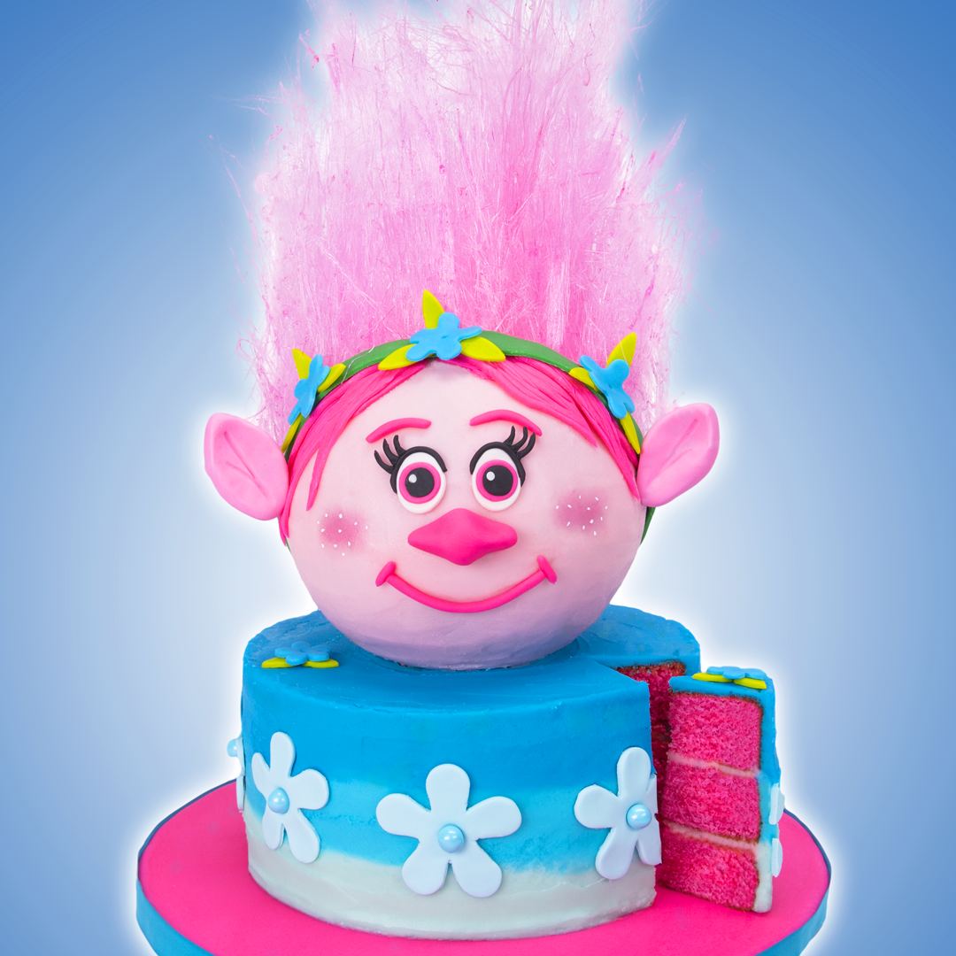 Troll Cake With Edible Hair Girls Birthday Ideas Cake