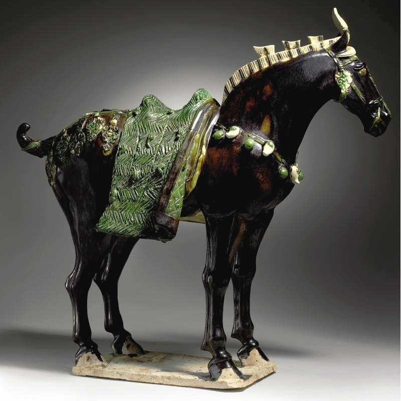 Chinese Art Black Glazed Pottery