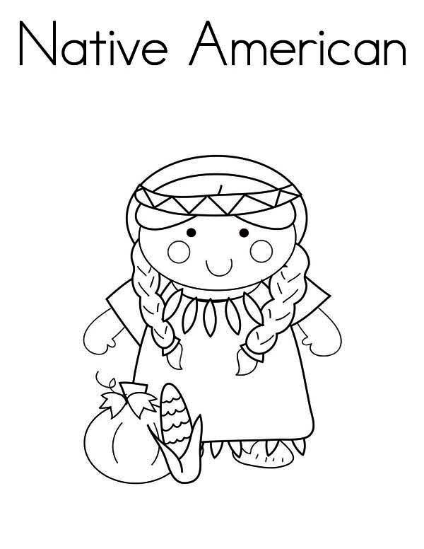 Inspirational American Girl Coloring Pages 67 Native American Day Little