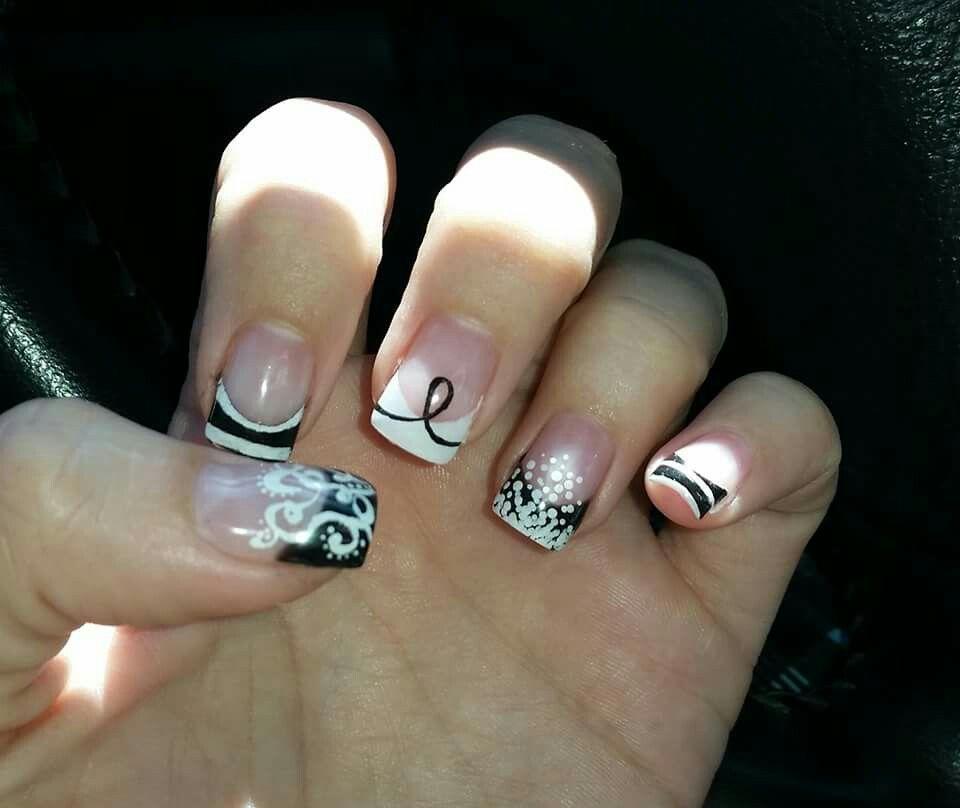 Melissa melanoma awareness nails.. rip my beautiful friend ...