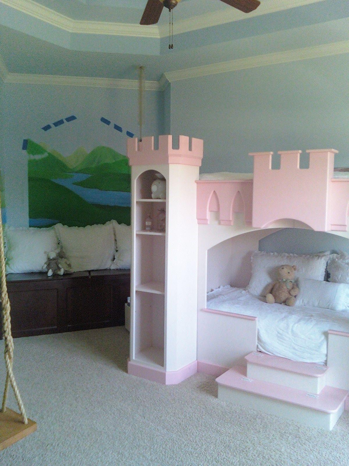 No s lo cama de castillo un columpio tambi n cuartos for Camas de ninas