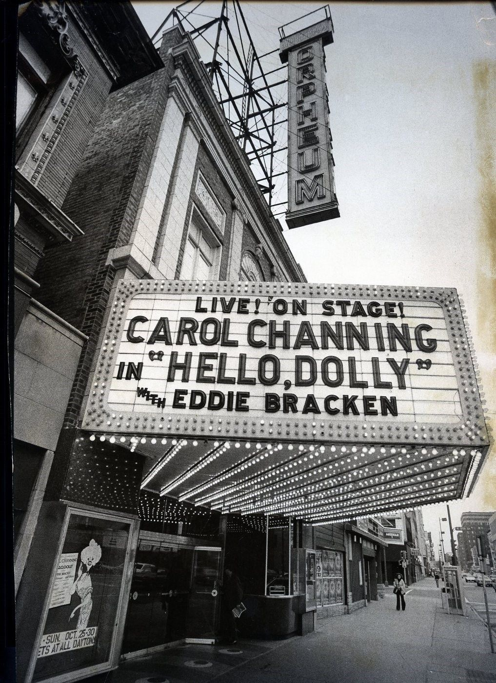 Live On Stage Carol Channing In Hello Dolly With Eddie Bracken Carol Channing Hello Dolly Orpheum Theatre M Carol Channing Theatre Poster Signed Photo