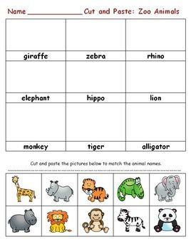 Zoo Animals: First or Second Grade Activities | Activities ...