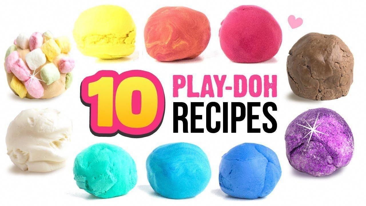 10 EASY PlayDoh Recipes!! DIY 5Minute Soap Clay, Edible