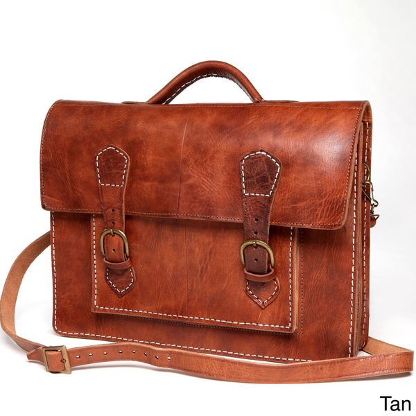 9551c60f7d13 Handmade Leather Laptop Bag   Briefcase (Morocco) - Overstock™ Shopping -  Top Rated Messenger Bags