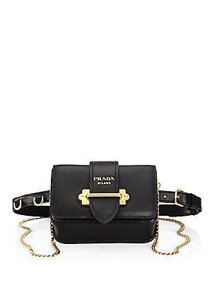 8c7a3887dc40 Prada Marsupio Leather Cahier Belt Bag - Sale! Up to 75% OFF! Shop at  Stylizio for women s and men s designer handbags