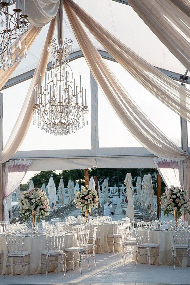 Glamorous Mexico Destination Wedding By The Beach Reception