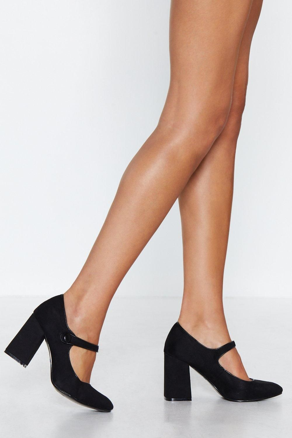 bc233100ae467 The Marry Me Heel comes in faux suede and features a block heel
