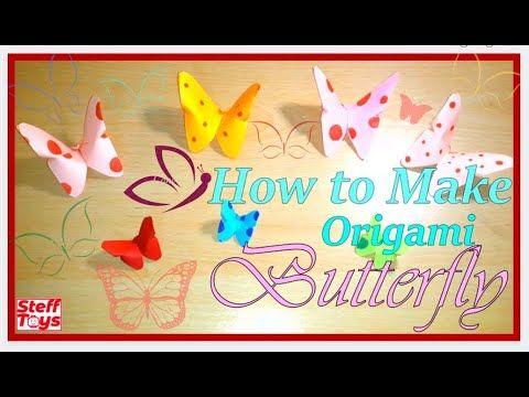 Photo of Wie man Origami-Schmetterlinge macht || Einfacher Origami || DIY & Handwerk