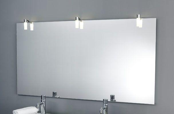 3 x CALMA ONE Bad Spiegelleuchten 3x 40 Watt auf Spiegel BASIC ...