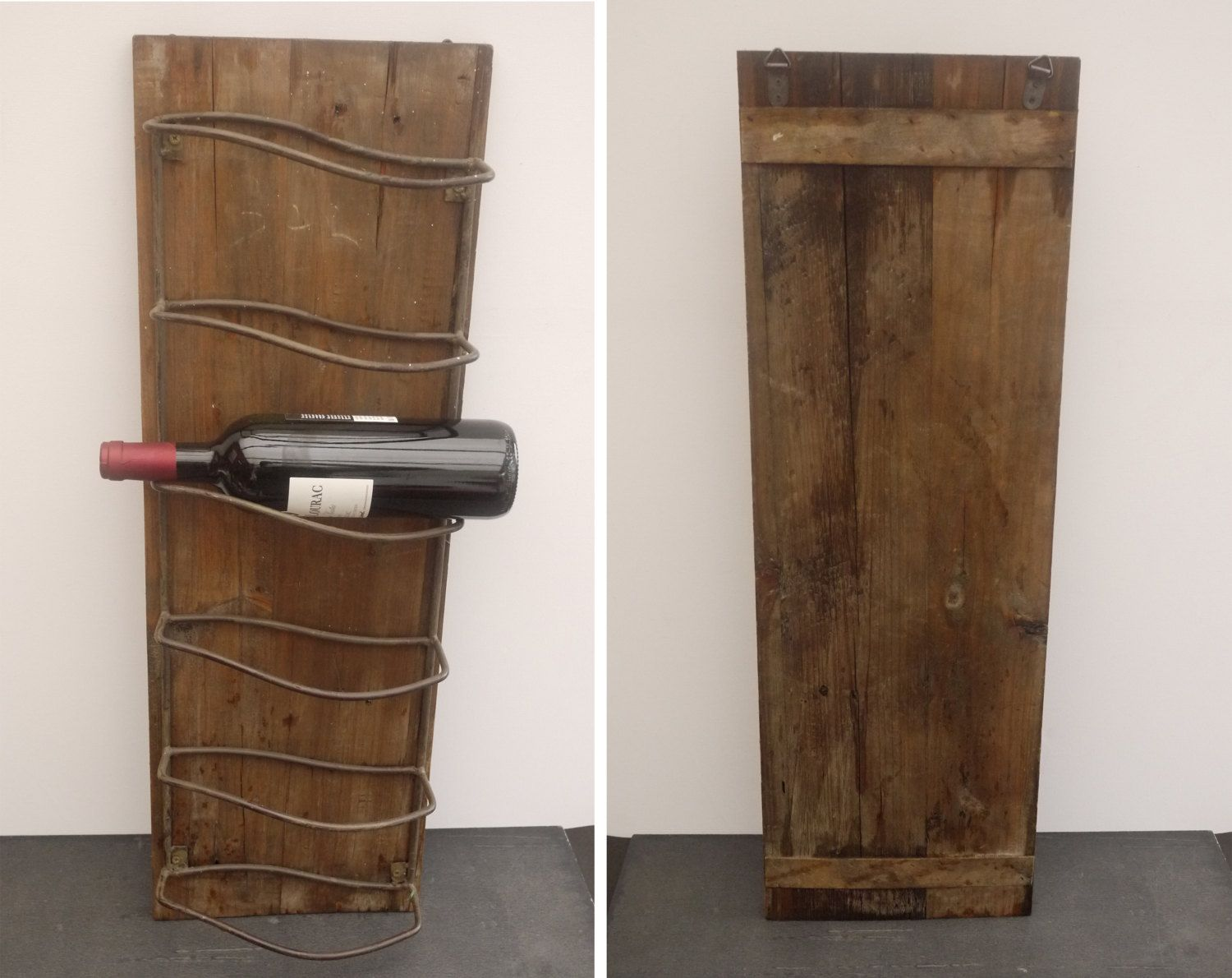 Porte Bouteille Mural Bois French Wall Mounted Wine Rack Wood 6 Bottles Rack Holder