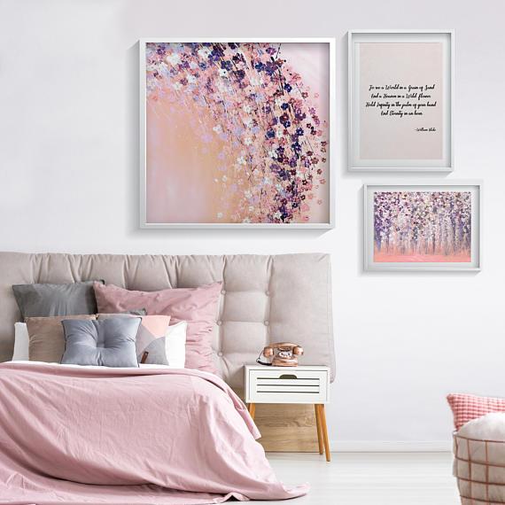 Pink Wall Art Prints Bedroom Wall Decor Pink Flowers Print Etsy Bedroom Decor For Women Wall Decor Bedroom Pink Walls