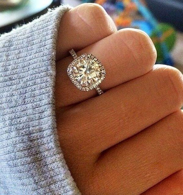 cushion cut halo wedding engagement rings - Halo Wedding Ring