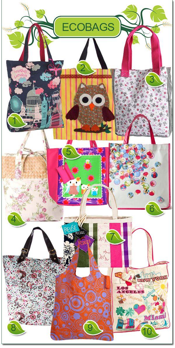 b6ec8a53e Minha Boutique de Luxo: Ecobags: versáteis e estilosas!   Bag (tote ...