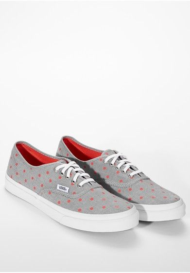 VANS Authentic Slim Chambray Dots Canvas | i want shoes