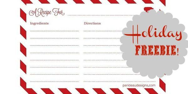 Free Printable Recipe Cards Celebrations At Home Recipe Cards Template Christmas Recipe Cards Recipe Cards Printable Free