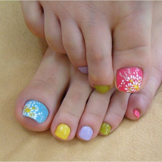 Pin by obsession with womens feet on mmmm pinterest 50 easter nail art designs for toes prinsesfo Image collections