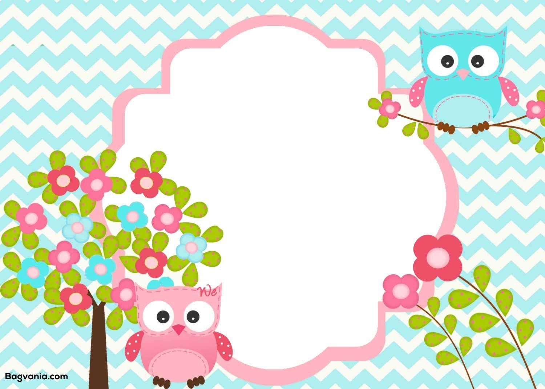 Free Printable Owl Birthday Invitation Com Imagens Festa