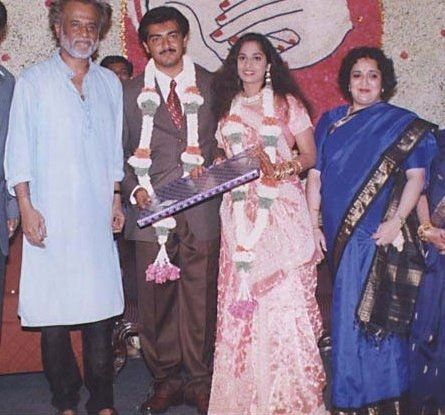 Rajinikanth with his Wife at Ajith Marriage | Old film stars