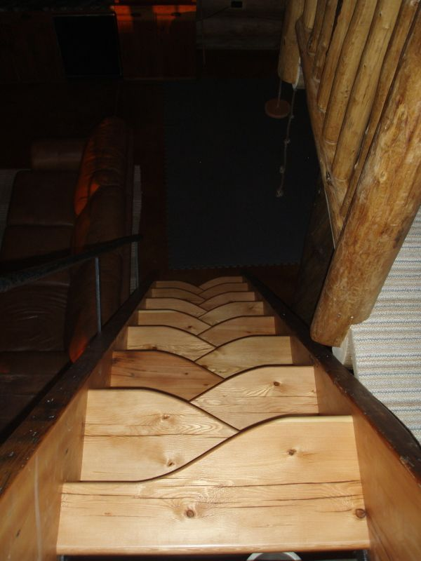 escalier bois dit pas japonais id al pour les acc s tr s pentus esc pas d cal japonais. Black Bedroom Furniture Sets. Home Design Ideas
