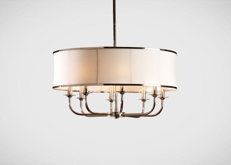 Zoe Eight-Light Nickel Chandelier   Ideas for home decor   Pinterest